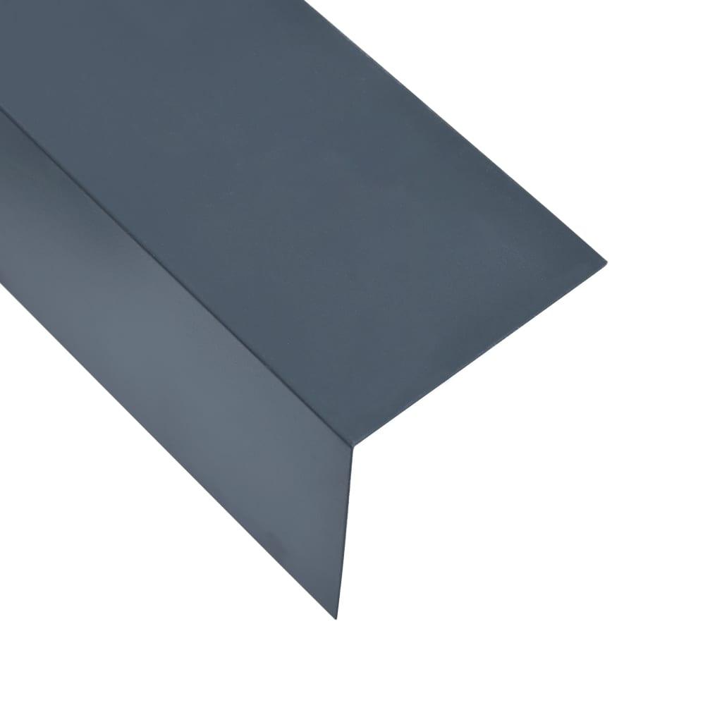 vidaXL Lišty v tvare L 90° 5 ks, hliník, antracitové 170cm, 100x100 mm
