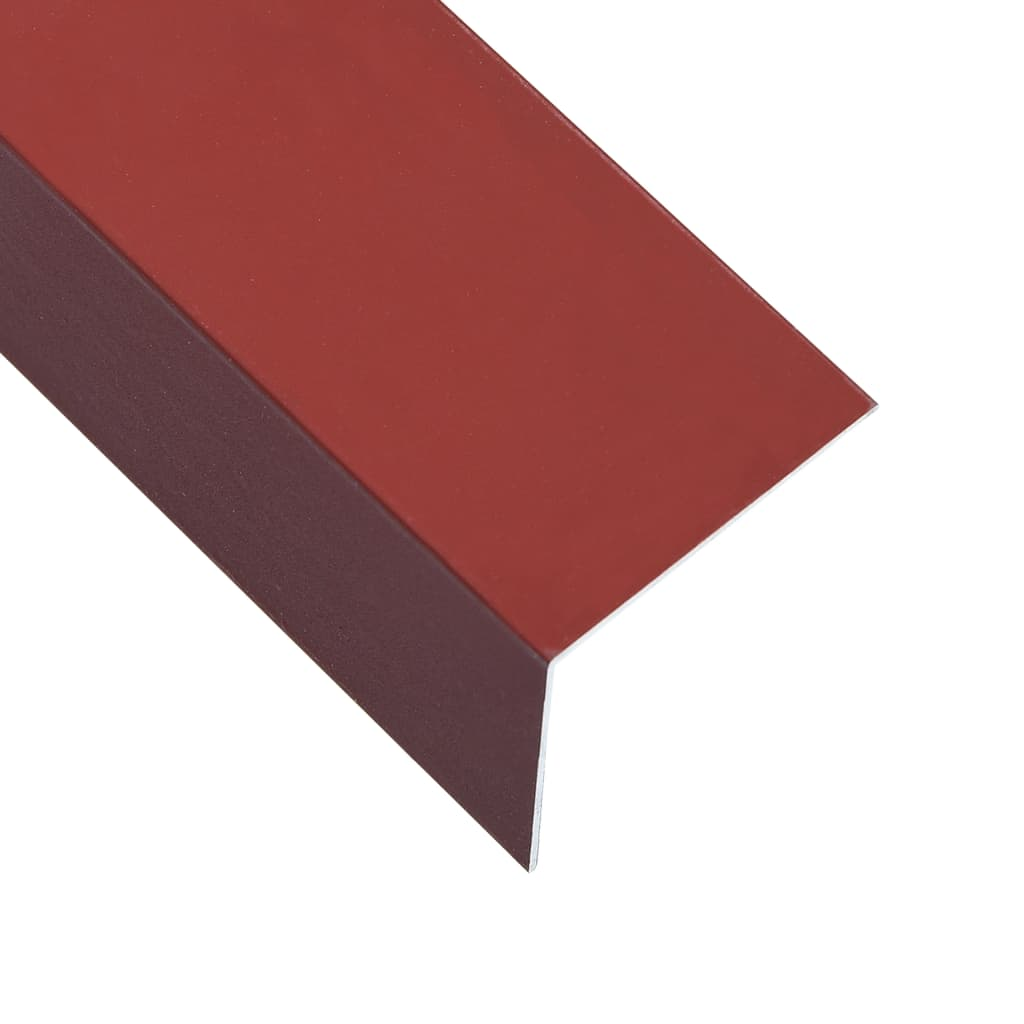 vidaXL Lišty v tvare L 90° 5 ks, hliník, červené 170 cm, 60x40 mm