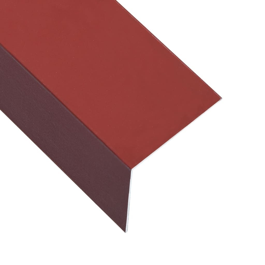 vidaXL Lišty v tvare L 90° 5 ks, hliník, červené 170 cm, 100x100 mm