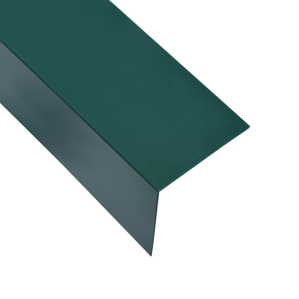 vidaXL Lišty v tvare L 90° 5 ks, hliník, zelené 170 cm, 30x30 mm