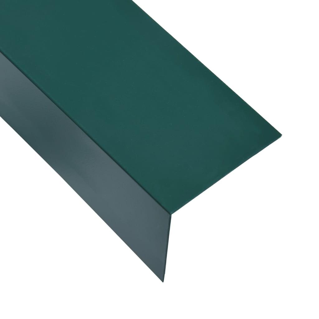 vidaXL Lišty v tvare L 90° 5 ks, hliník, zelené 170 cm, 100x50 mm