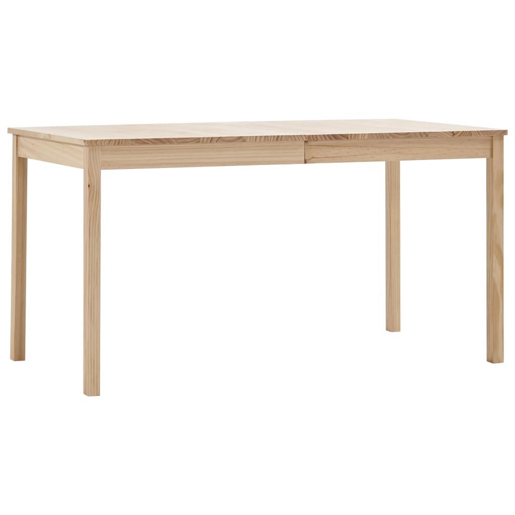 vidaXL Jedálenský stôl 140x70x73 cm, borovicové drevo
