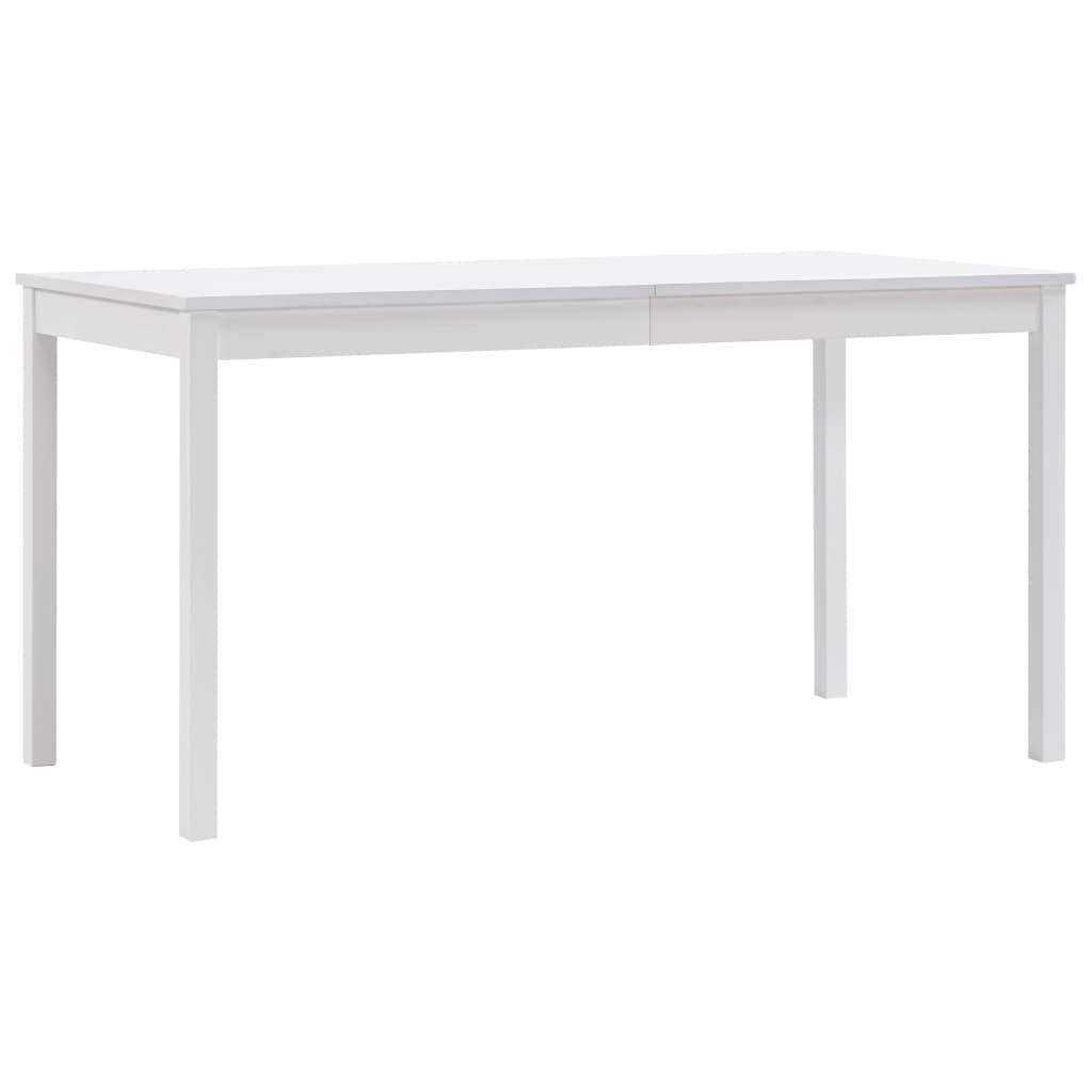 vidaXL Jedálenský stôl, biely 140x70x73 cm, borovicové drevo