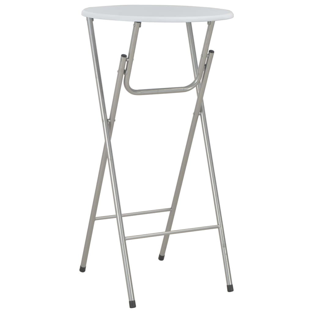 vidaXL Barový stôl biely 60x112 cm MDF