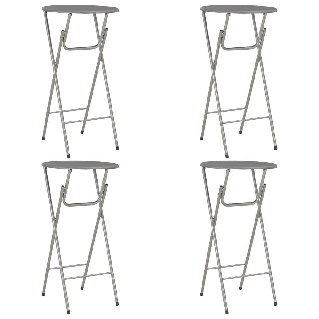 vidaXL Barové stoly 4ks antracitové 60x112 cm MDF