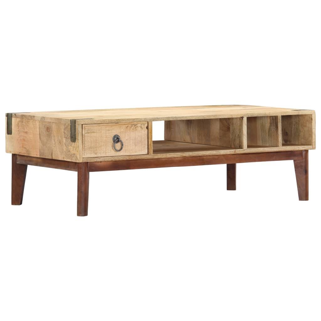 vidaXL Konferenčný stolík 110x50x40 cm mangovníkový masív