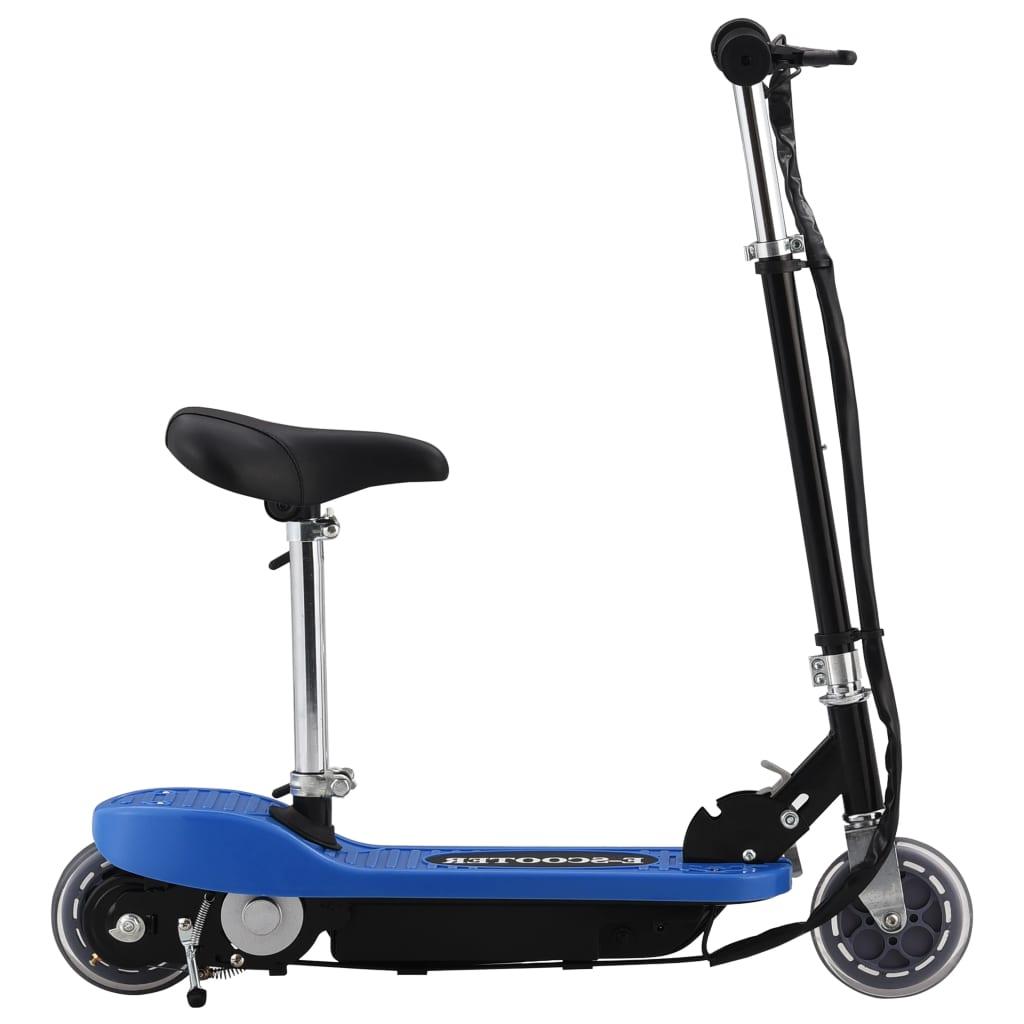 vidaXL Elektrická kolobežka so sedadlom modrá 120 W