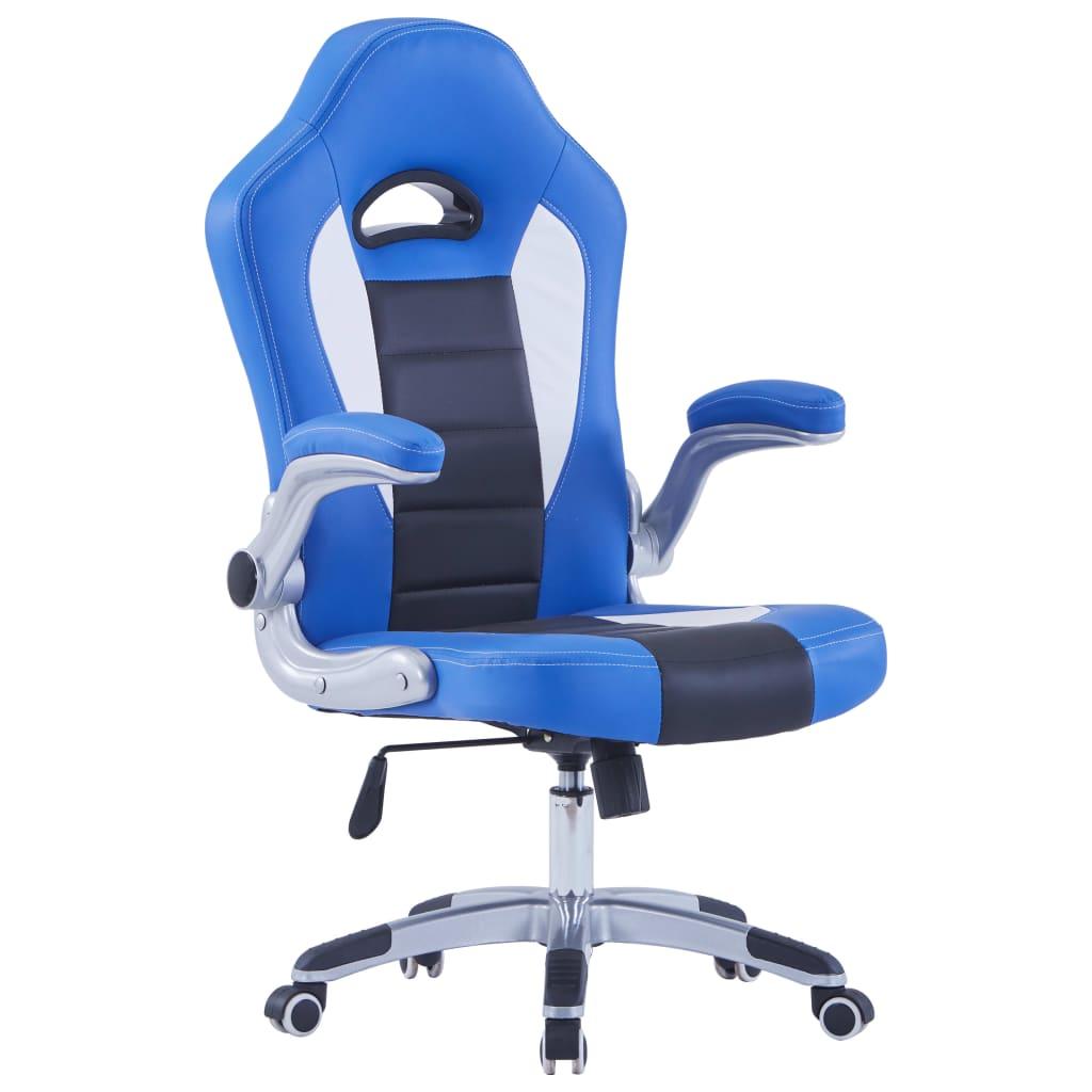 vidaXL Herná stolička modrá umelá koža