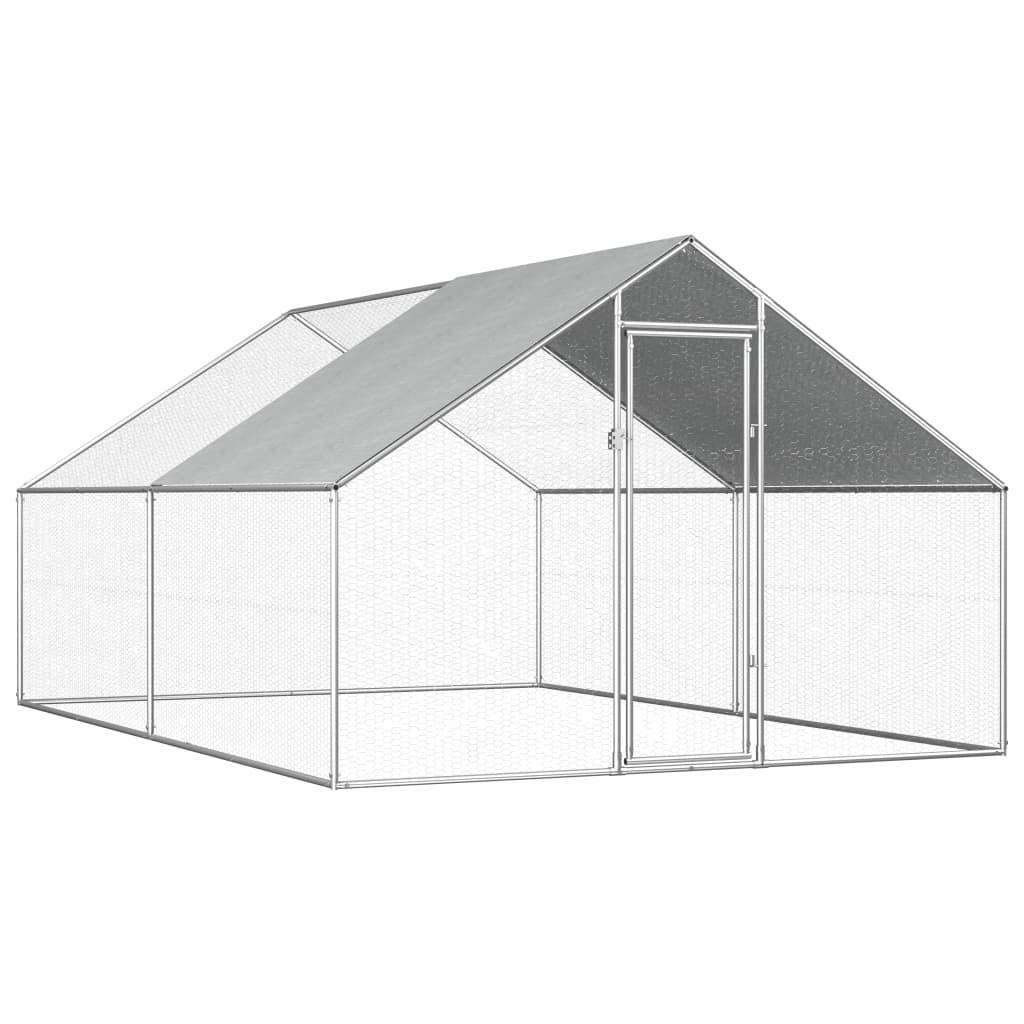 vidaXL Vonkajšia klietka pre sliepky  2,75x4x2 m pozinkovaná oceľ