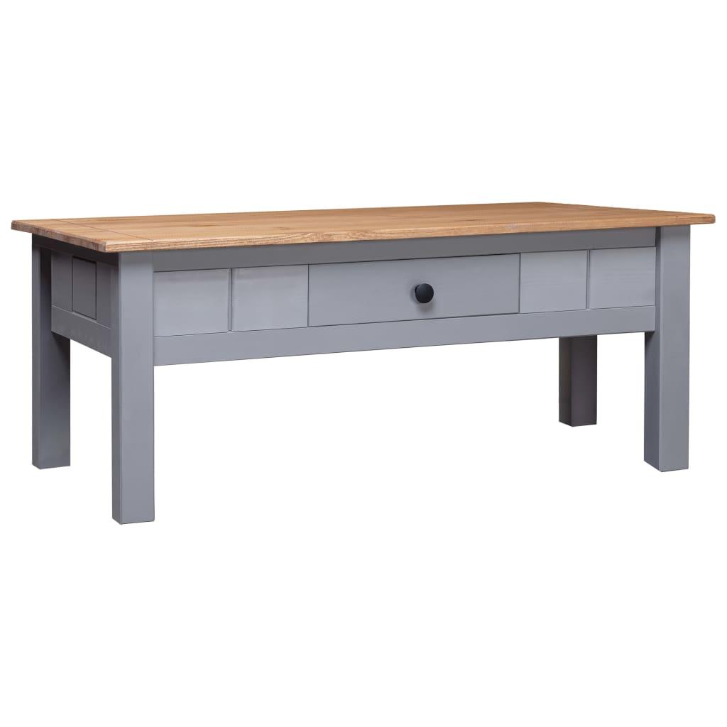 vidaXL Konferenčný stolík, sivý 100x60x45 cm, borovica Panama Range