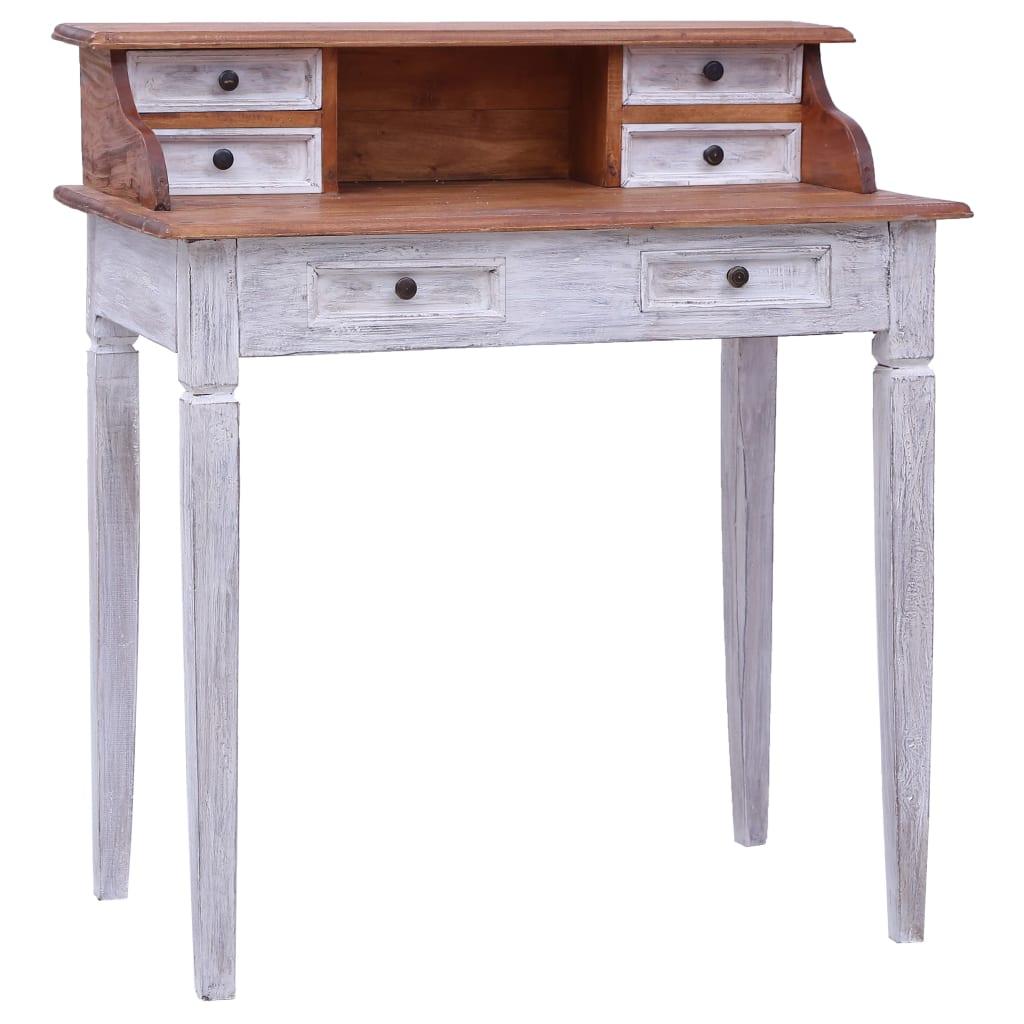 vidaXL Písací stôl so zásuvkami 90x50x101 cm masívne recyklované drevo