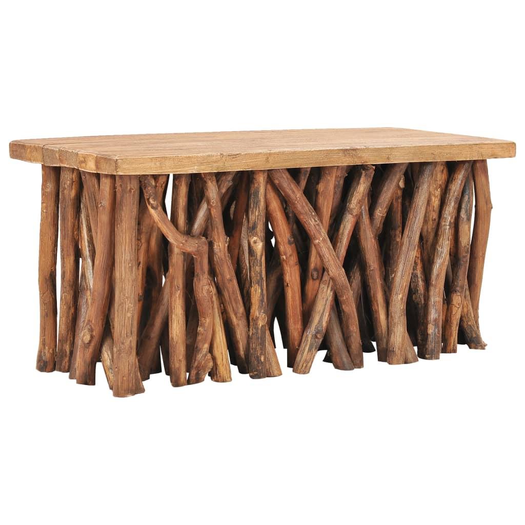 vidaXL Konferenčný stolík 100x40x47,5 cm masívne recyklované a teakové drevo