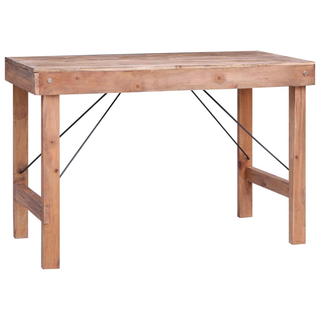 vidaXL Jedálenský stôl 120x60x80 cm recyklovaný masív