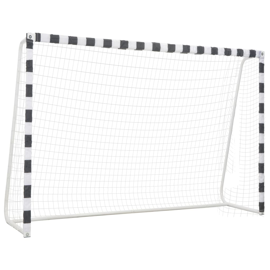 vidaXL Futbalová bránka 300x200x90 cm kovová čierna a biela