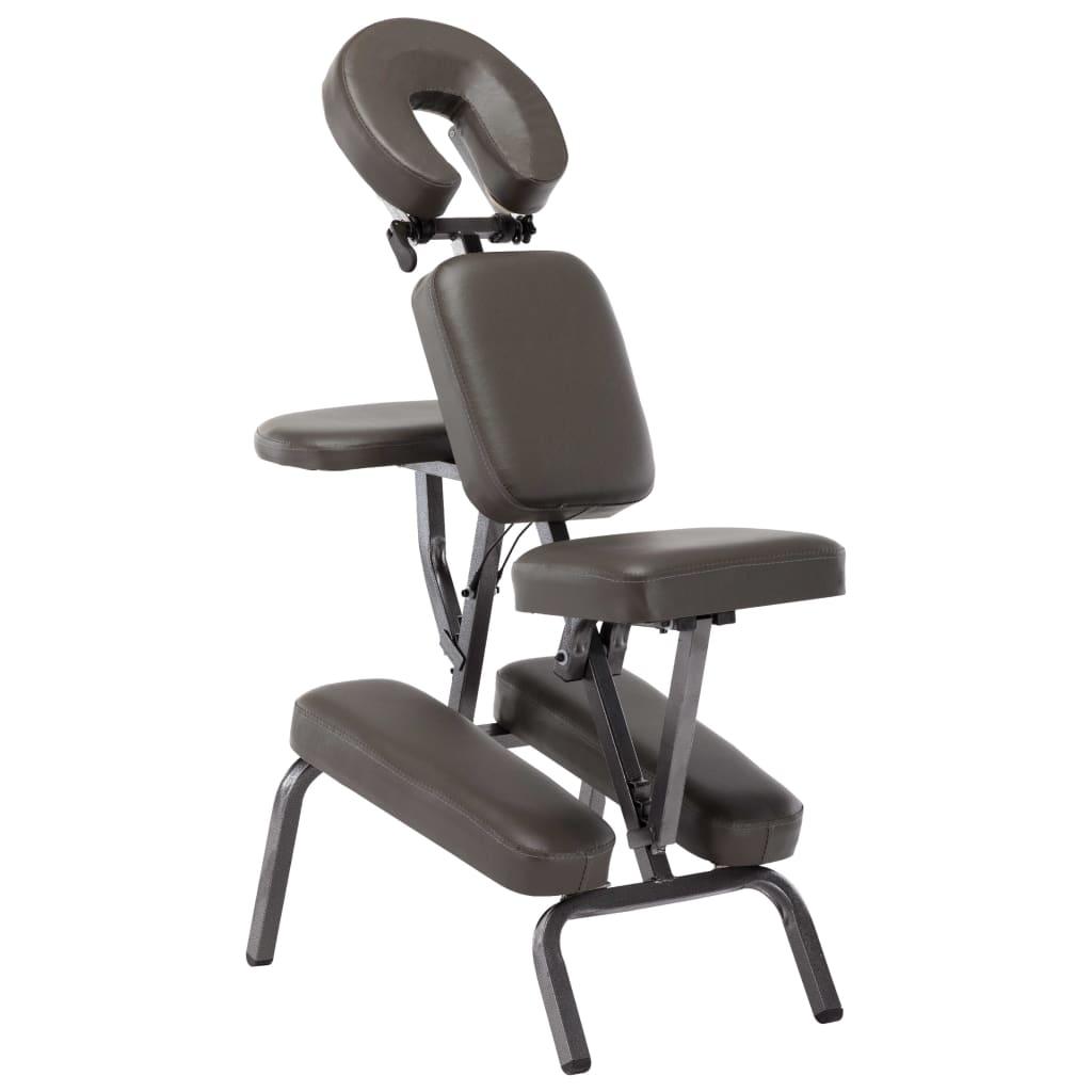 vidaXL Masážna stolička, umelá koža, antracitová 122x81x48 cm