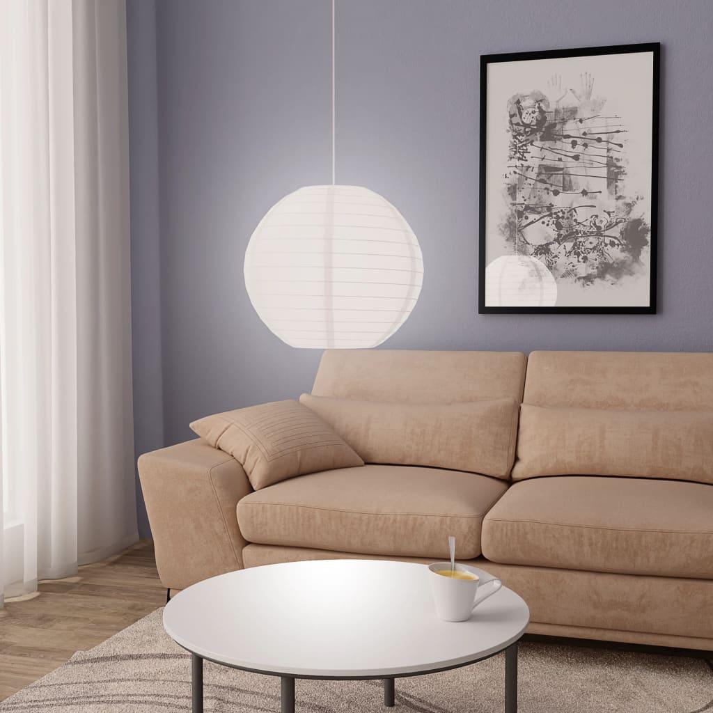 vidaXL Závesná lampa, biela Ø45 cm E27
