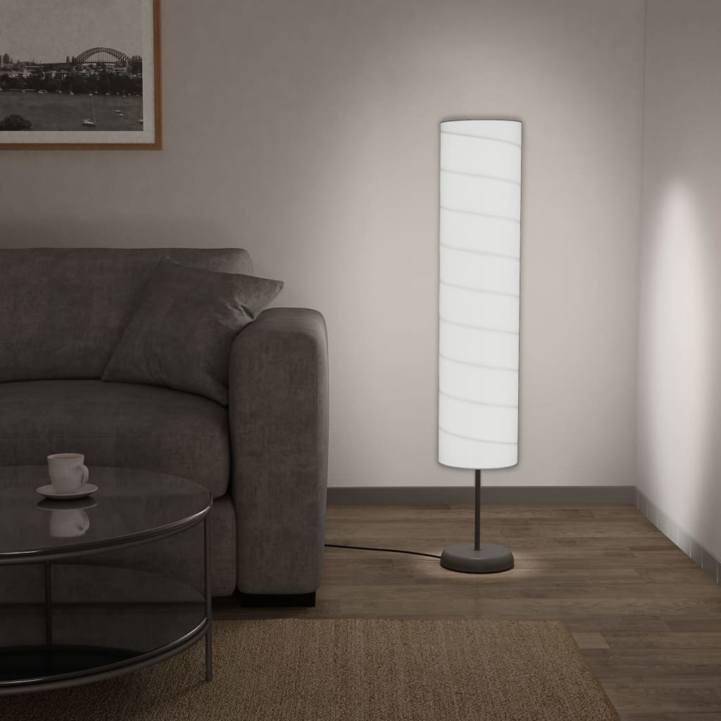 vidaXL Stojanová lampa s podstavcom biela 121 cm E27
