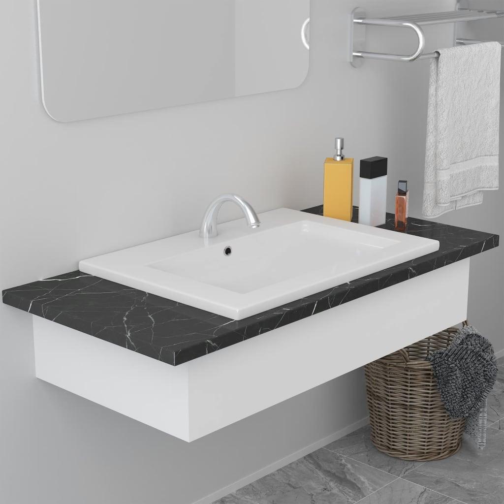 vidaXL Vstavané umývadlo 61x39,5x18,5 cm, keramika, biele