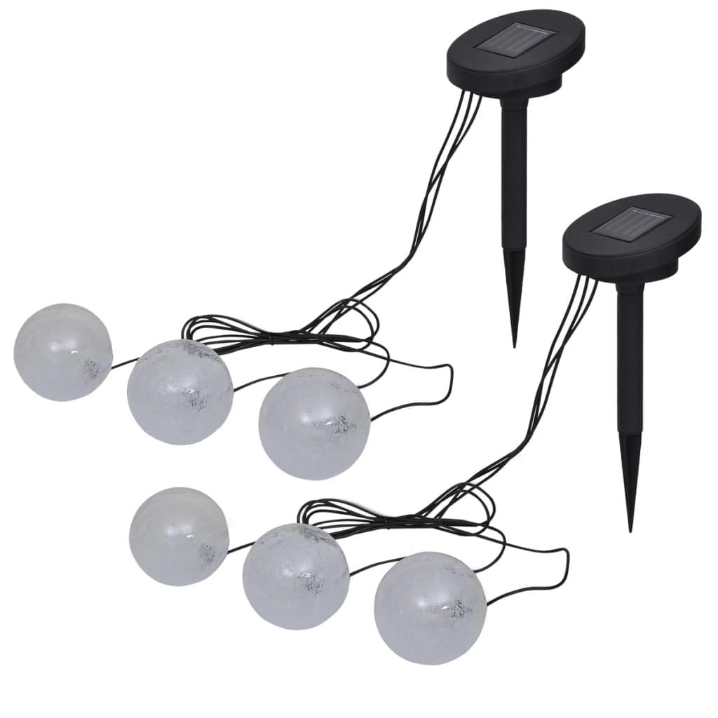 vidaXL Plávajúce LED lampy 6 ks do jazierka a bazéna