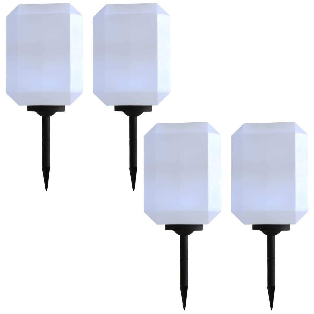 vidaXL Vonkajšie solárne lampy 4 ks biele 30 cm LED