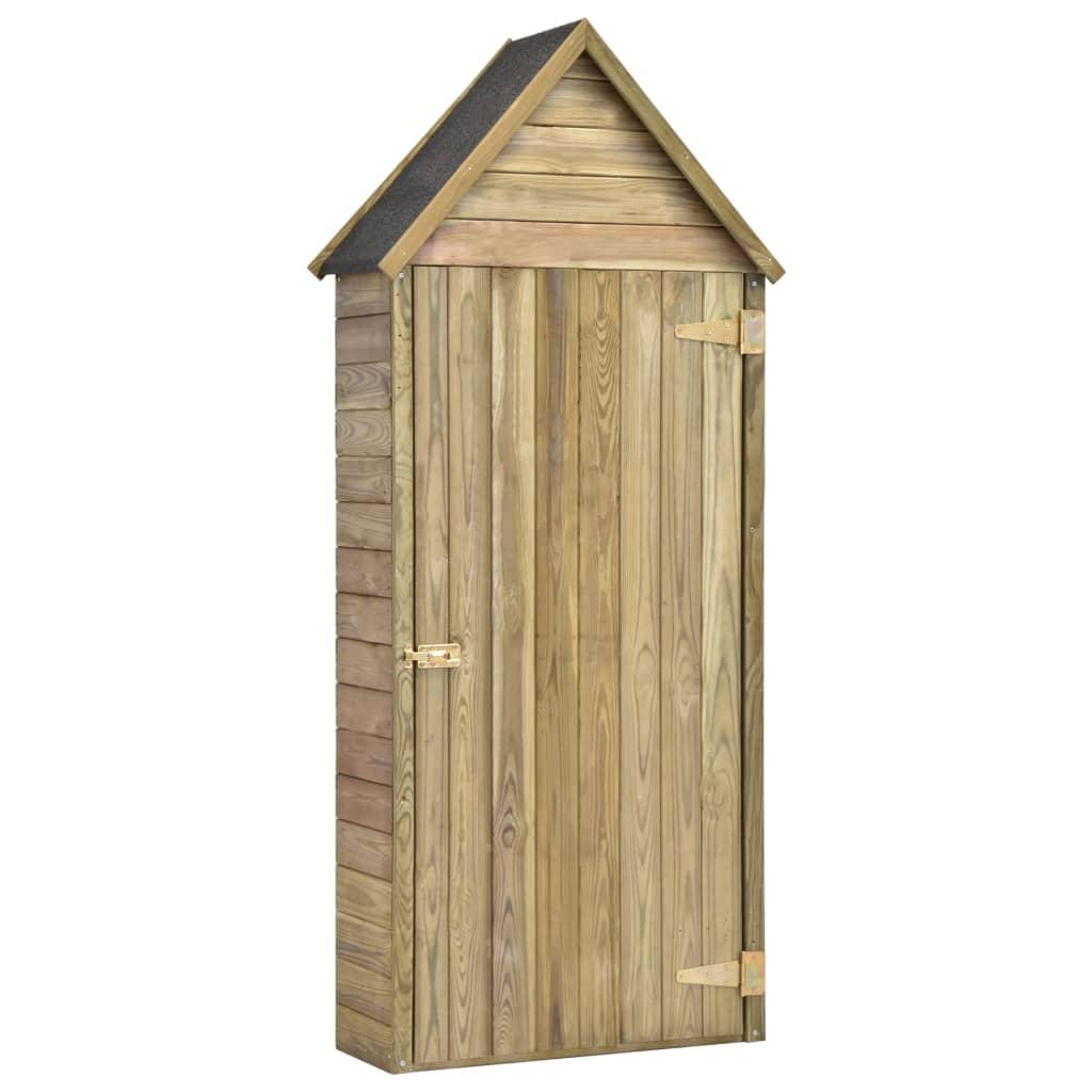vidaXL Záhradný prístrešok na náradie s dverami 77x37x178 cm impregnované borovicové drevo