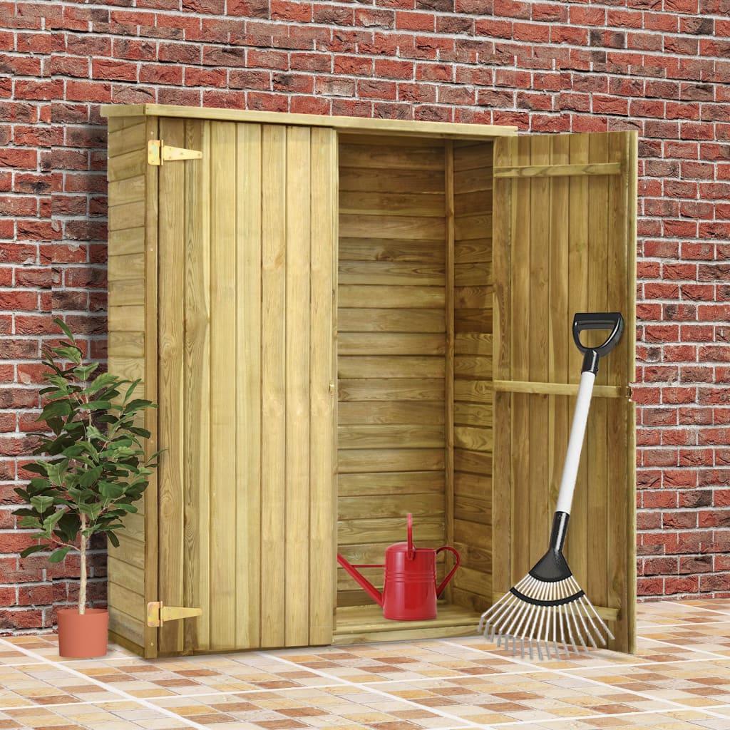 vidaXL Záhradná kôlňa na náradie 123x50x171 cm impregnované borovicové drevo