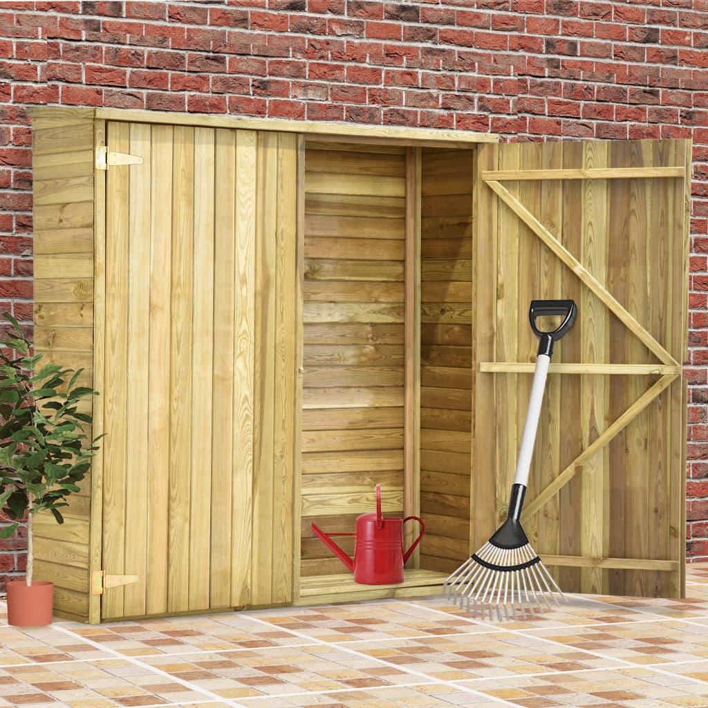 vidaXL Záhradná kôlňa na náradie 163x50x171 cm impregnované borovicové drevo