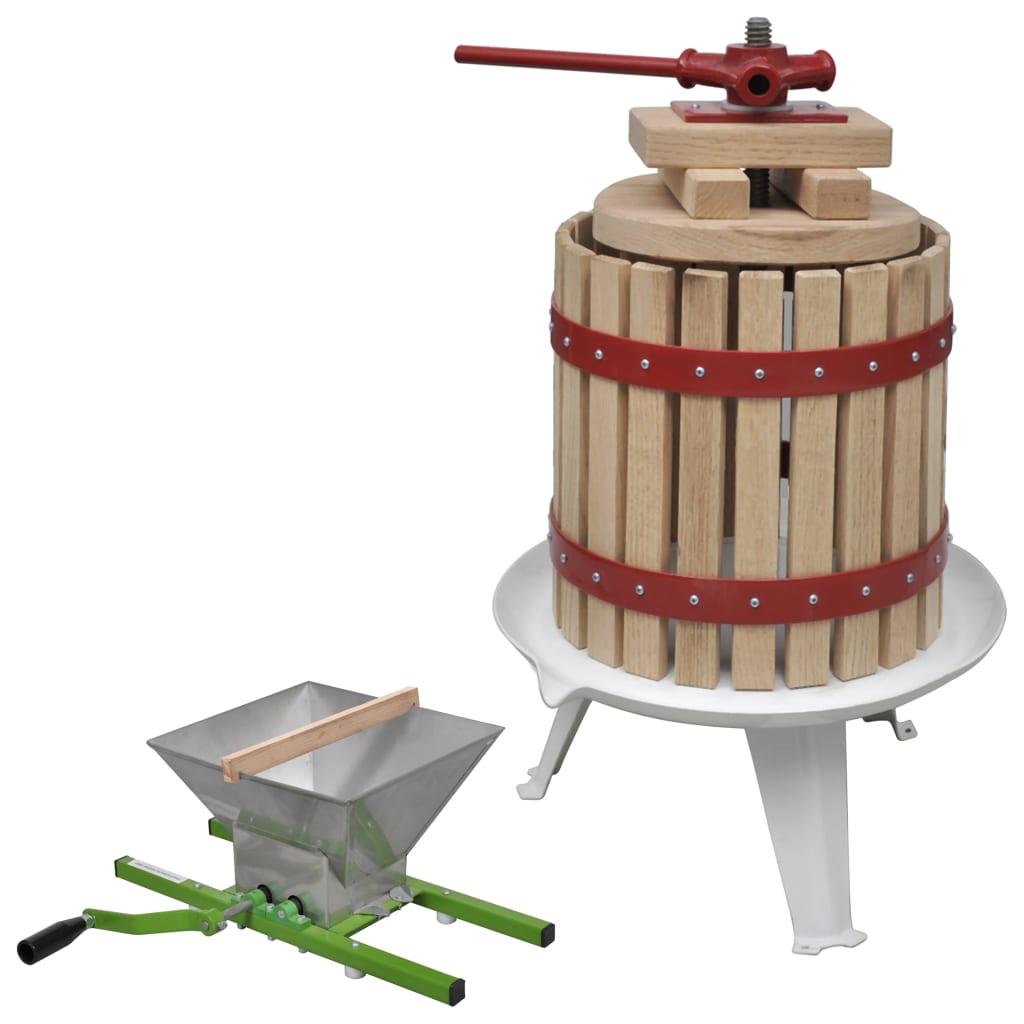 vidaXL 2-dielna sada lisu na ovocie a víno a drviča