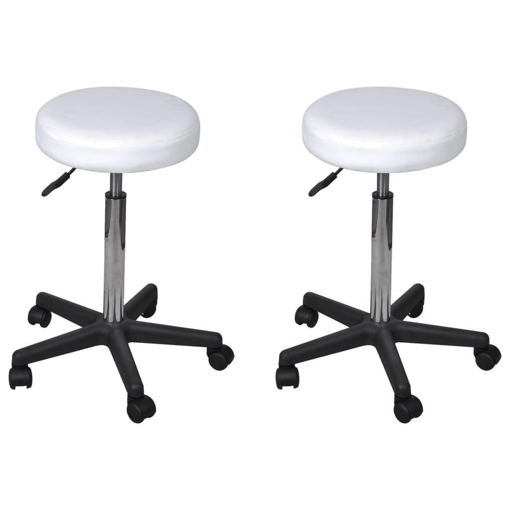 vidaXL Kancelárske stoličky 2 ks biele 35,5x98 cm umelá koža