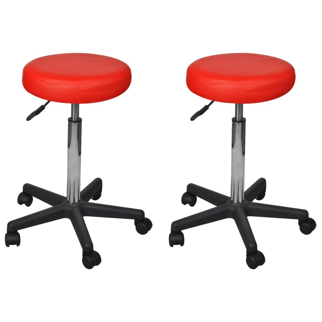 vidaXL Kancelárske stoličky 2 ks červené 35,5x98 cm umelá koža