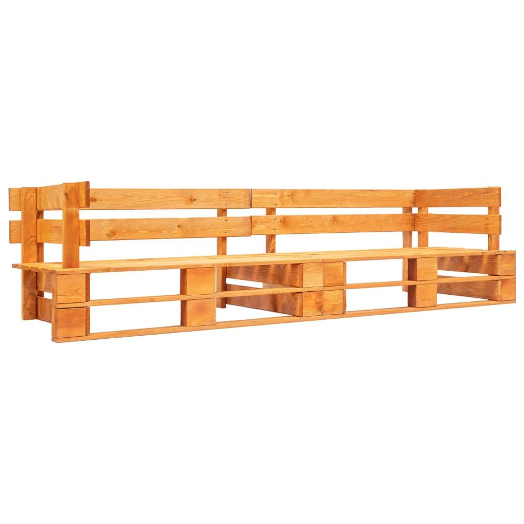 vidaXL 2-miestna záhradná paletová sedačka medovo-hnedá FSC drevo