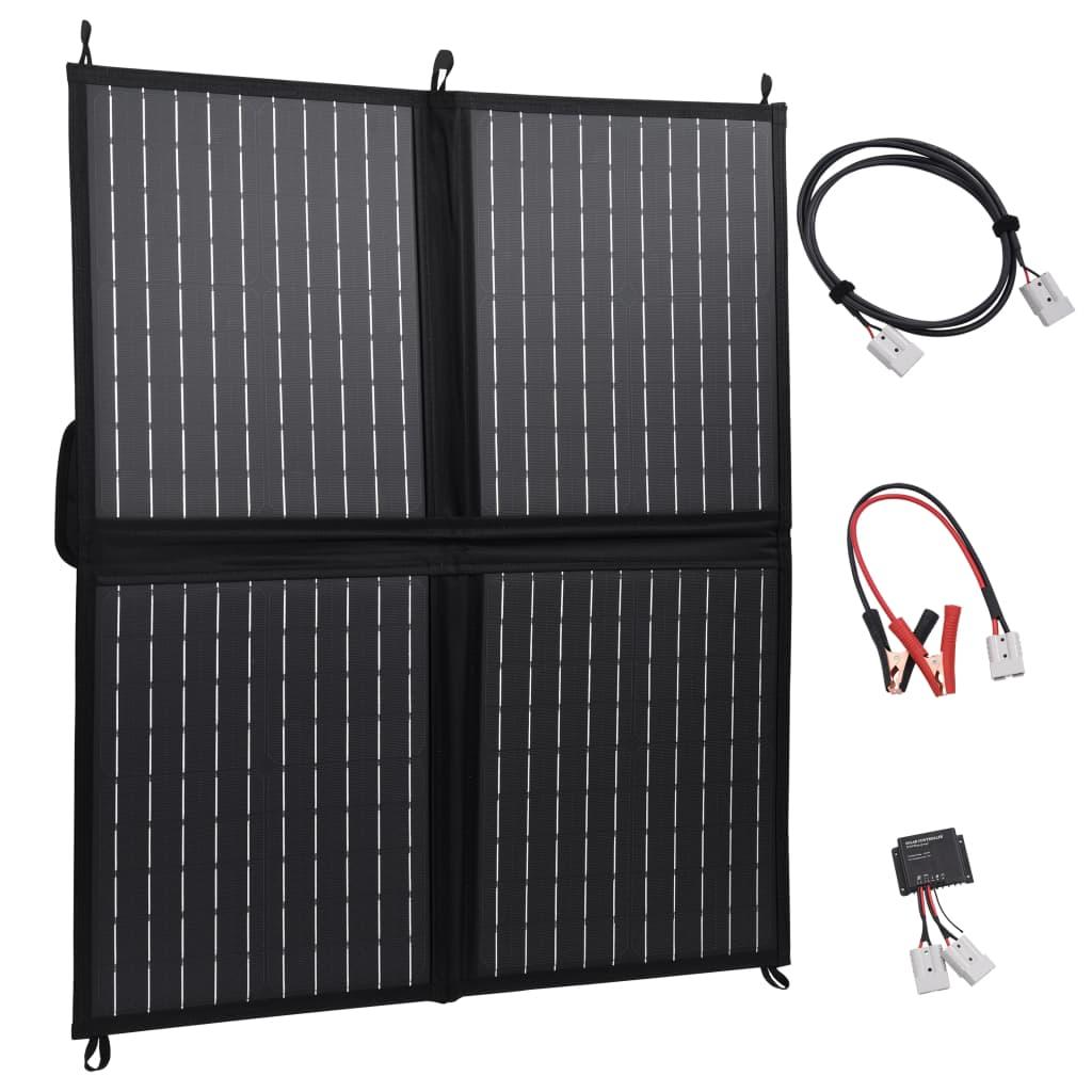 vidaXL Skladacia solárna nabíjačka 80 W 12 V