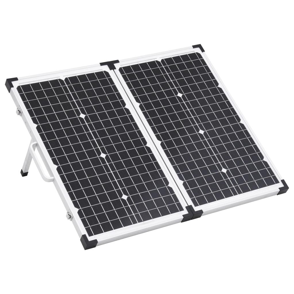vidaXL Skladací solárny panelový kufrík 60 W 12 V