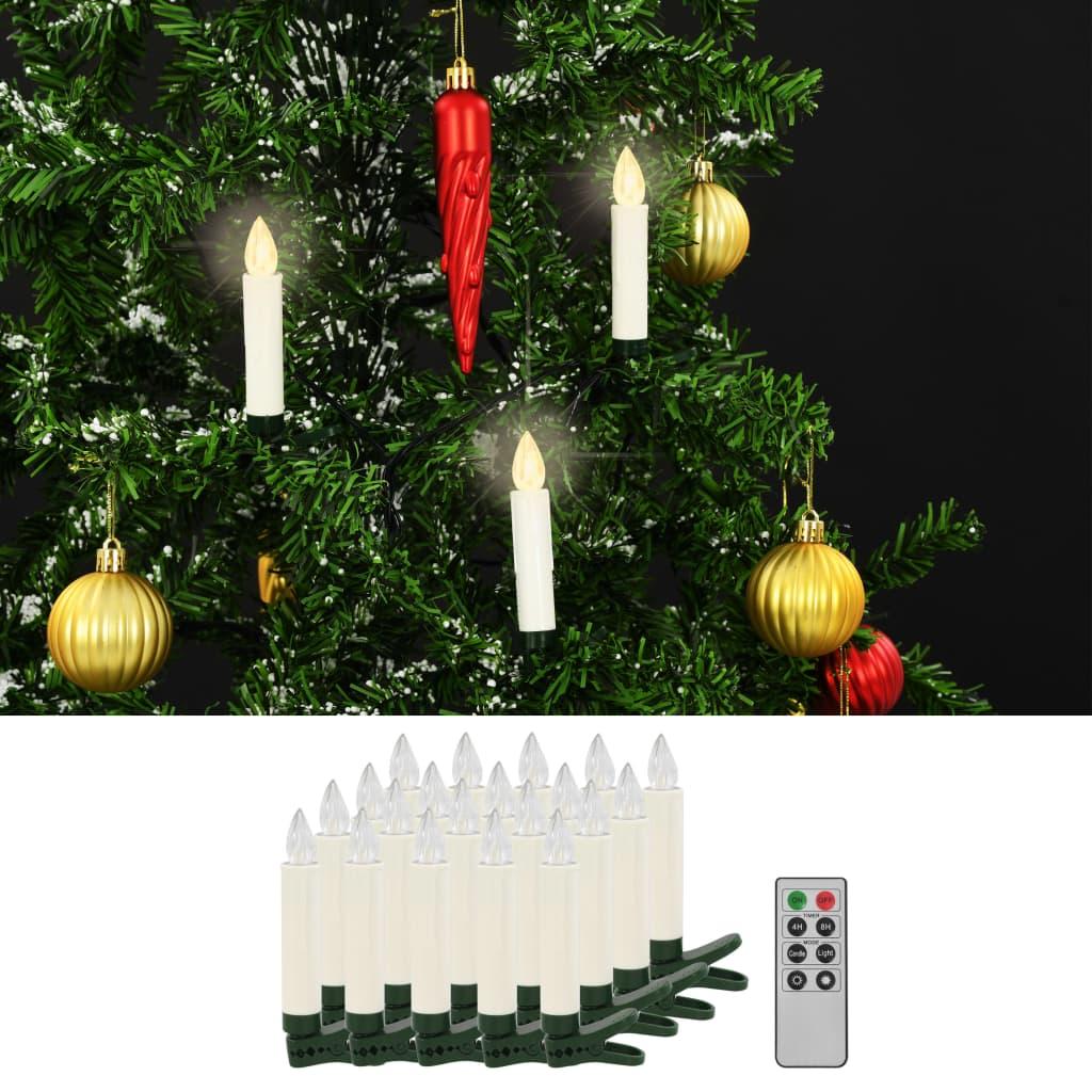 vidaXL Bezdrôtové LED sviečky s diaľkovým ovládaním 20 ks teplá biela farba