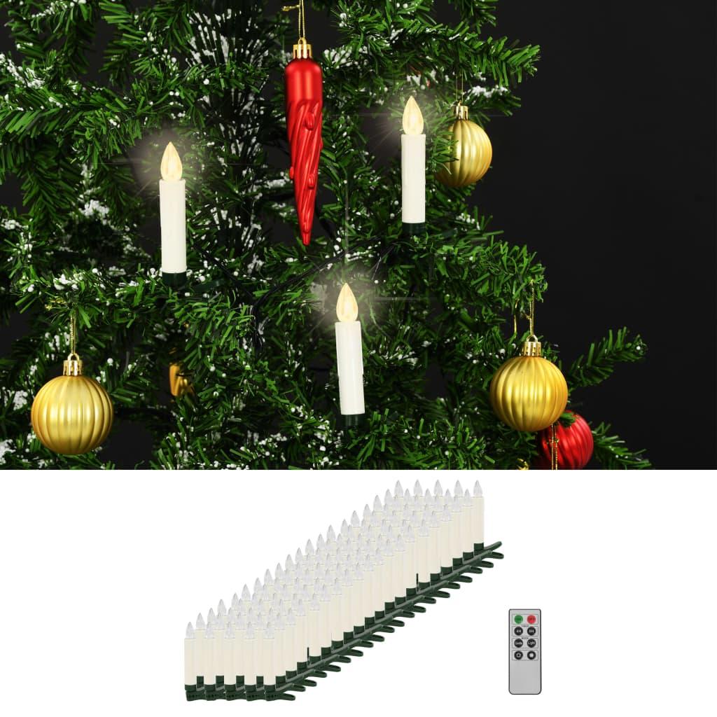 vidaXL Bezdrôtové LED sviečky s diaľkovým ovládaním 100 ks teplá biela farba
