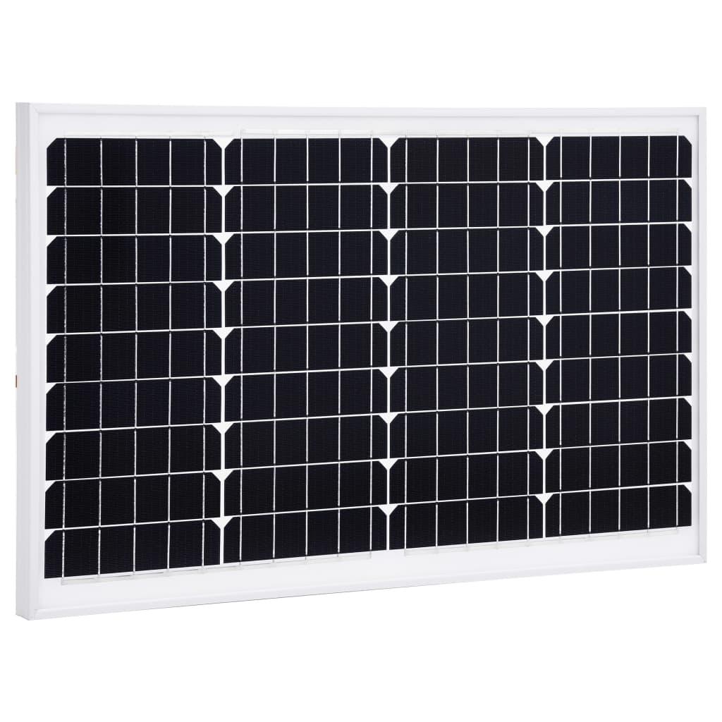 vidaXL Solárny panel hliník a bezpečnostné sklo 40 W monokryštalický
