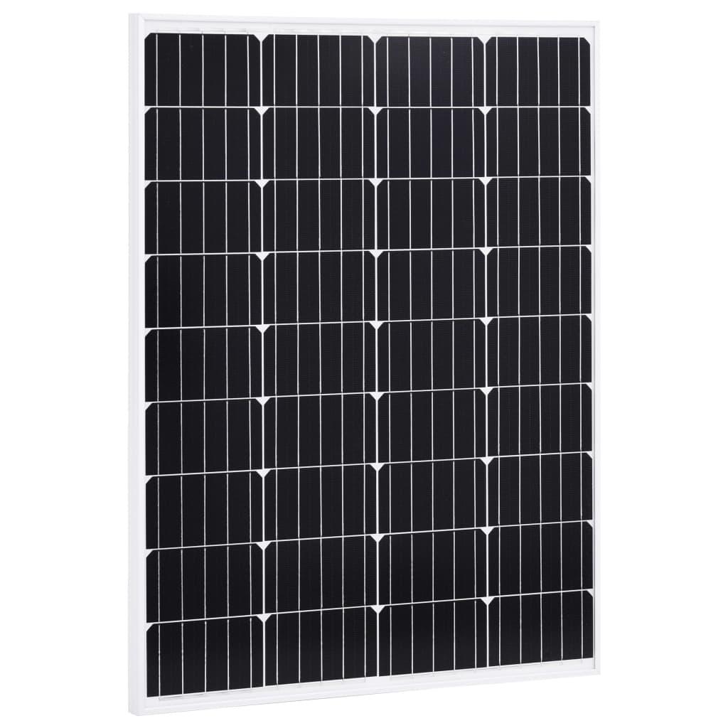 vidaXL Solárny panel hliník a bezpečnostné sklo 100 W monokryštalický