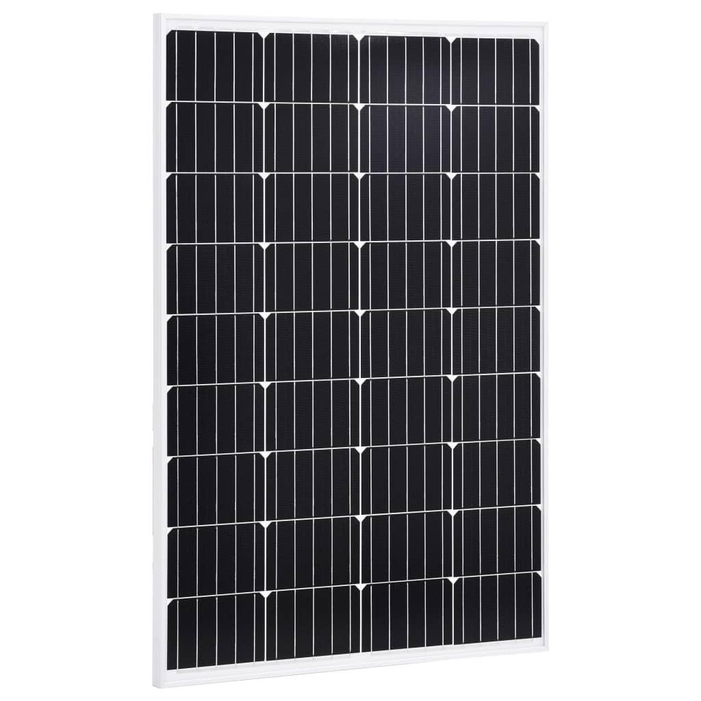 vidaXL Solárny panel hliník a bezpečnostné sklo 120 W monokryštalický