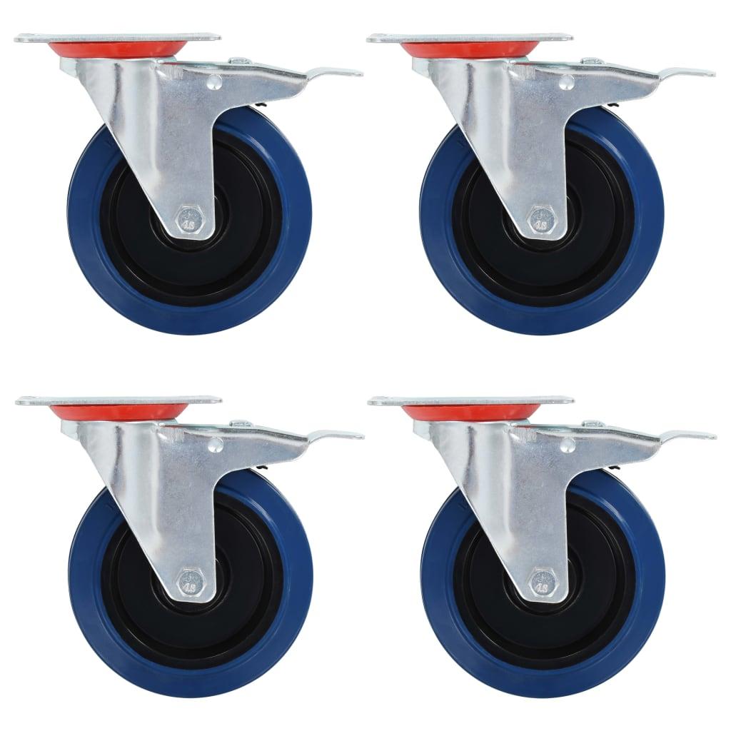 vidaXL Otočné kolieska 32 ks, 125 mm