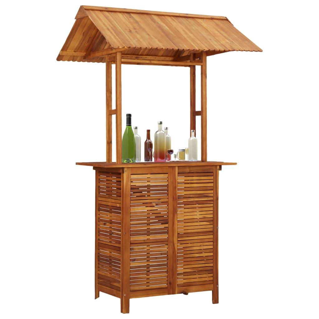 vidaXL Vonkajší barový stôl 122x106x217 cm masívne akáciové drevo