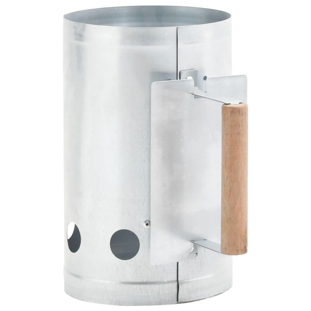 vidaXL Zapaľovací komín pre gril na drevené uhlie pozinkovaná oceľ