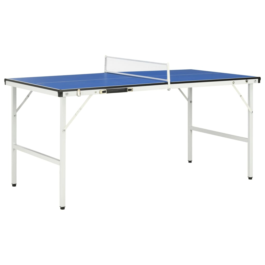 vidaXL 5-stopový stôl na stolný tenis so sieťou modrý 152x76x66 cm