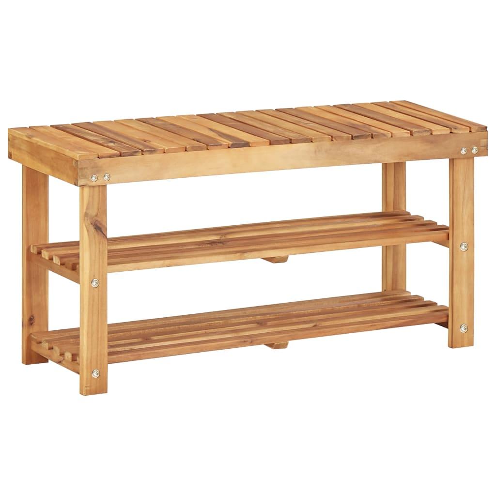 vidaXL Regál na topánky 90x32x46 cm masívne akáciové drevo