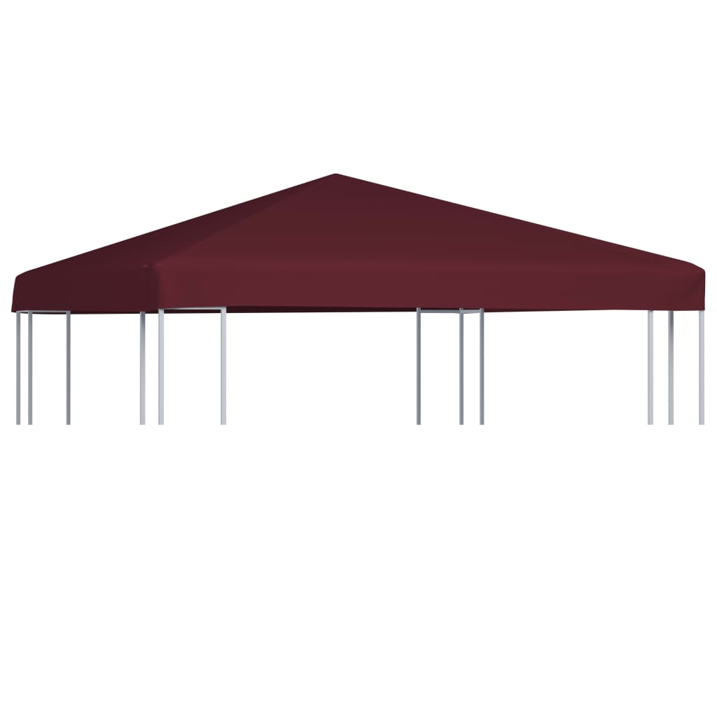 vidaXL Strieška na altánok bordová 3x3 m 310 g/m²