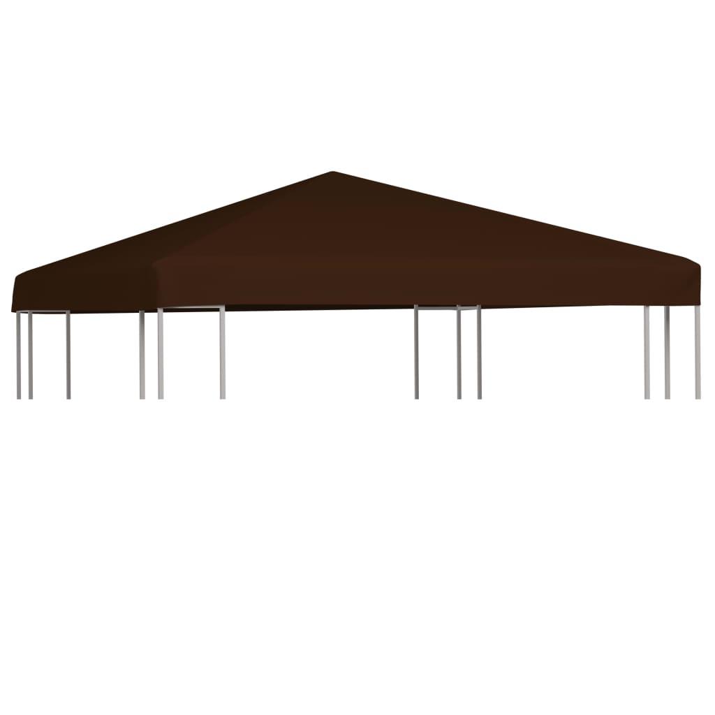 vidaXL Strieška na altánok hnedá 3x3 m 310 g/m²