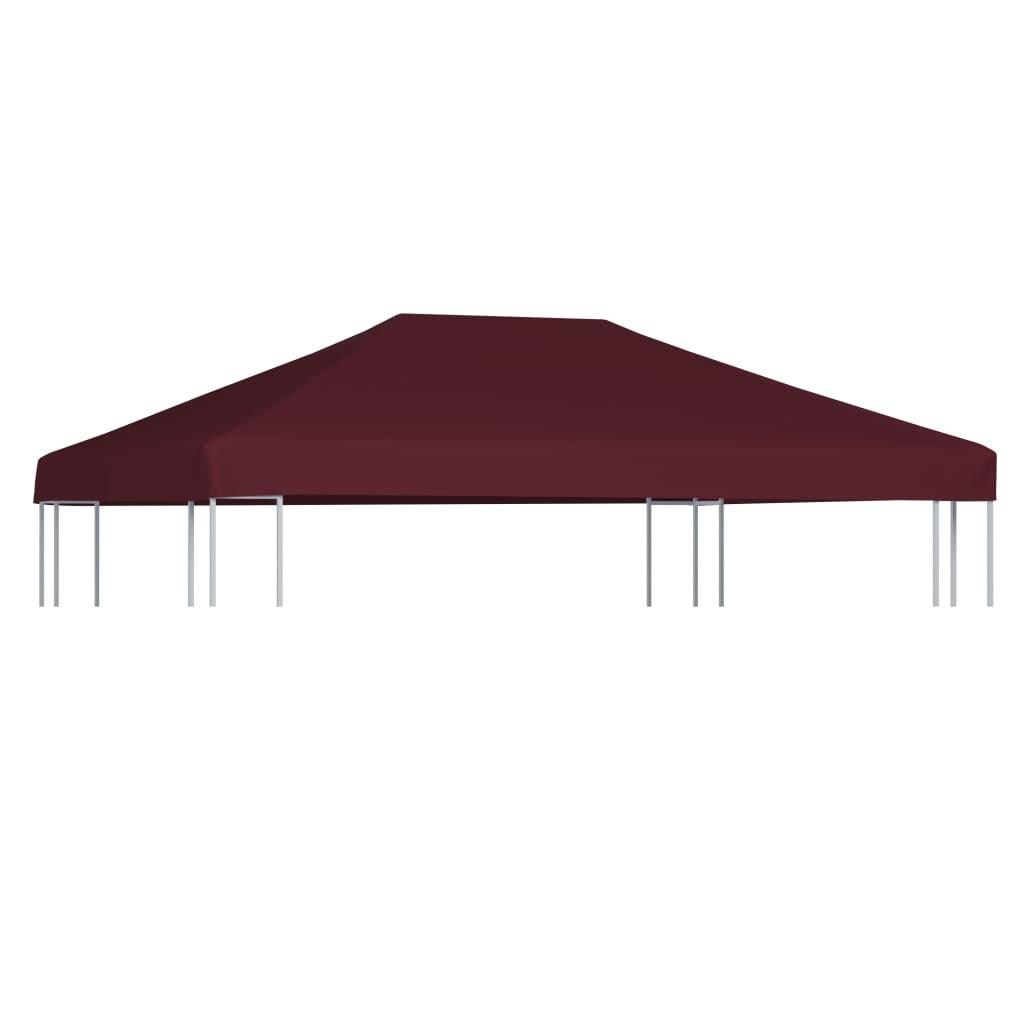 vidaXL Strieška na altánok bordová 3x4 m 310 g/m²