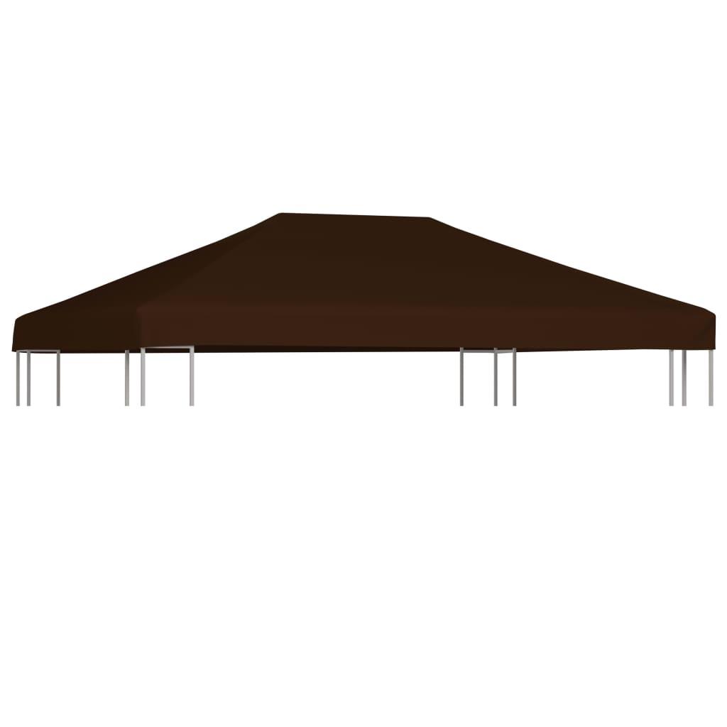 vidaXL Strieška na altánok hnedá 3x4 m 310 g/m²