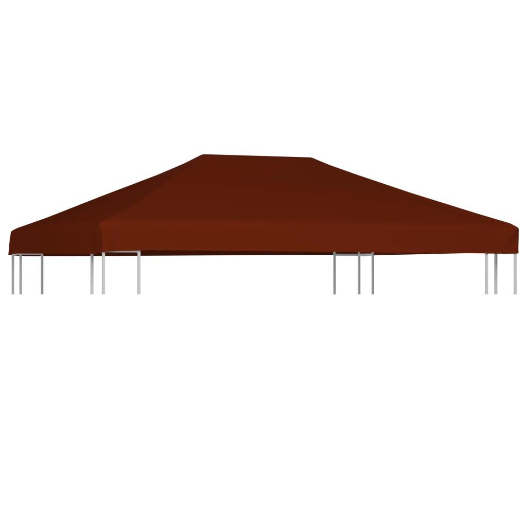 vidaXL Strieška na altánok tehlovočervená 3x4 m 310 g/m²
