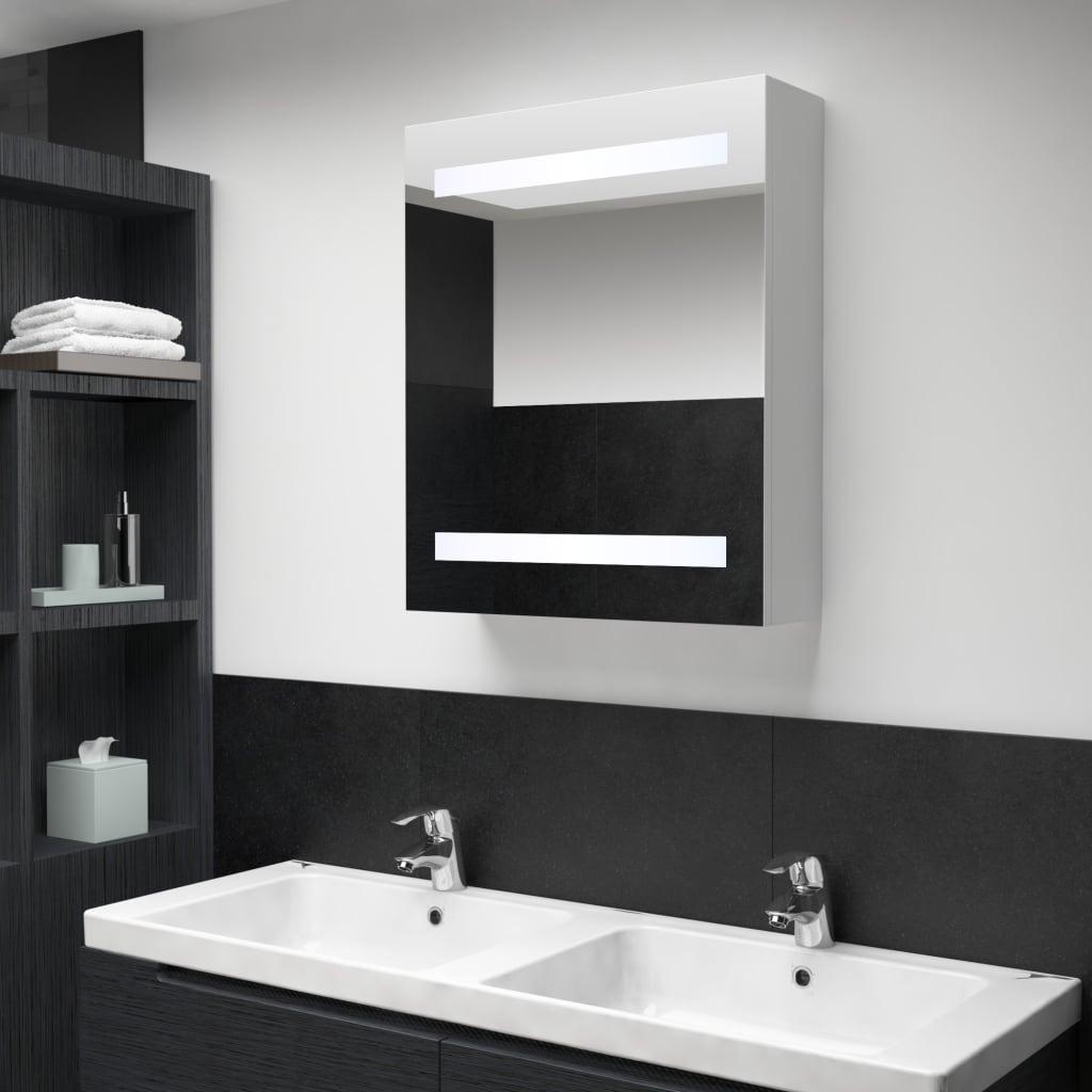 vidaXL LED kúpeľňová zrkadlová skrinka 50x14x60 cm