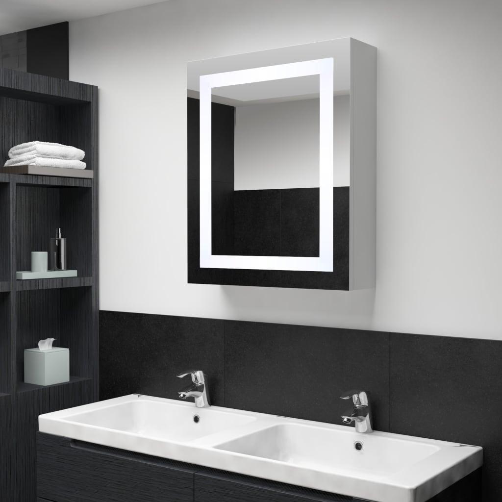 vidaXL LED kúpeľňová zrkadlová skrinka 50x13x70 cm